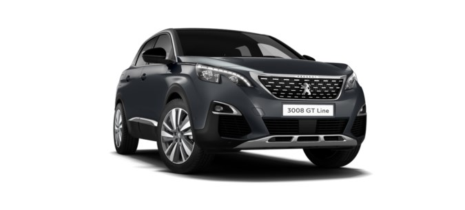 Peugeot 3008 gt zwart for Interieur 3008 gt line